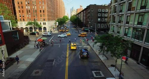 Zdjęcia na płótnie, fototapety, obrazy : NEW YORK - Circa July, 2016 - A high angle view of an intersection on 10th Avenue in Manhattan.