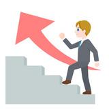 階段 ステップ ビジネスマン 男性