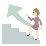 階段 ステップ ビジネスマン 女性