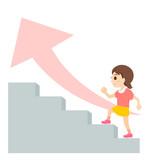 階段 ステップ 子供 女の子