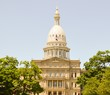 The Michigan state capital building