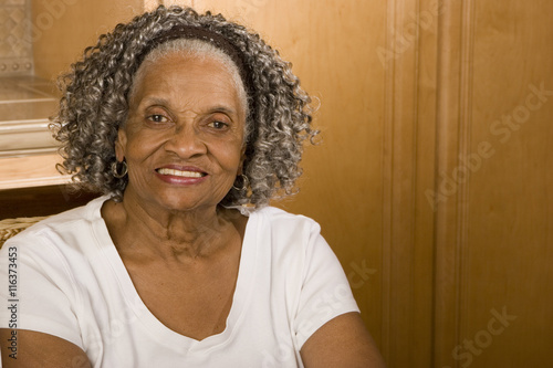 Poster Happy Senior Woman Smiling