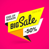 Bright big sale banner template