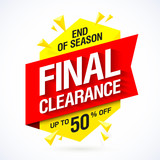End of season final clearance sale banner design
