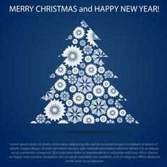 Greeting Christmas and New Year. Post card. © corben_dallas