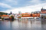 PRAGUE, CZECH REPUBLIC - April 26 : Beautiful street view of Tra