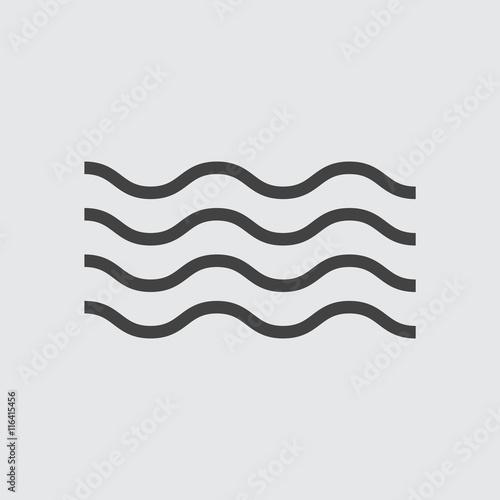 Wave Icon, vector wave Icon Eps10