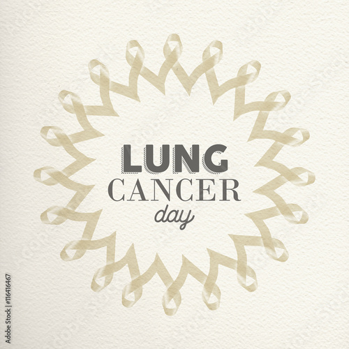 Lung cancer day awareness design made of ribbons
