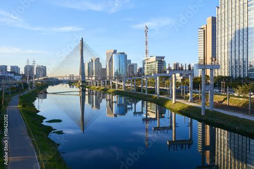 Plakat Sao Paulo Estaiada Bridge Brazil