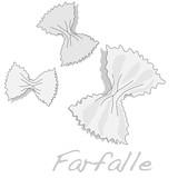 farfalle vector image