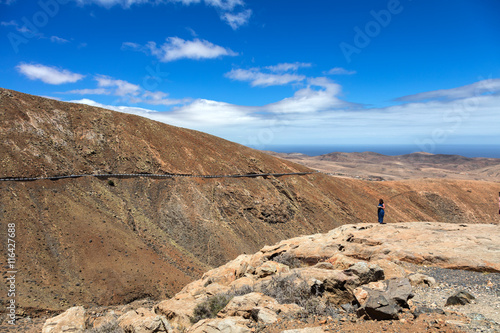 Deurstickers Canarische Eilanden Landschaft