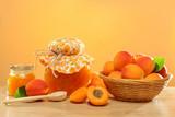 Sweet apricot jam