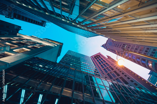 Modern commercial building in night