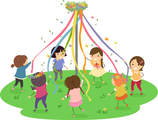 Stickman Maypole Girls