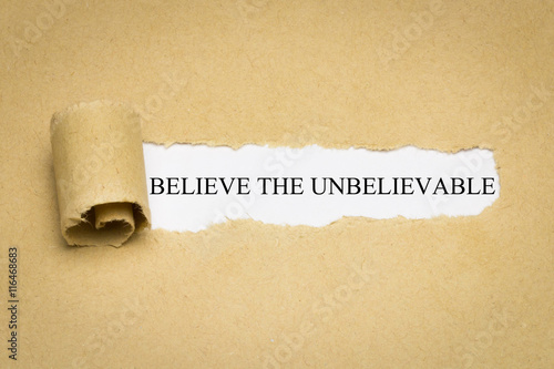 Poster Believe the Unbelievable
