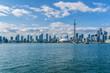 Beautiful Toronto's skyline over Lake Ontario. Ontario, Canada.