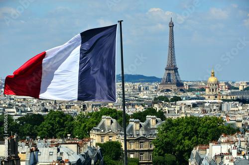 Poster vue panoramique de Paris