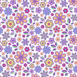 seamless pattern with pastel flowers