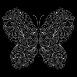 abstract butterfly on black background.