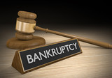 Laws dealing with bankruptcy and failure of financial institutions, 3D rendering - 116528011