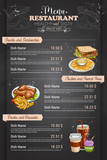 Fototapety Restaurant vertical color menu