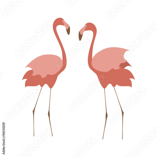 Foto op Aluminium Flamingo Illustration of pink flamingo