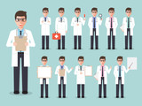 Doctor, medical and hospital staff characters.