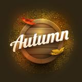 Vector Autumn Poster Design Template