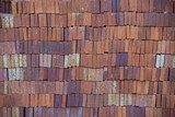 texture of red bricks
