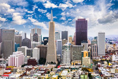 Naklejka San Francisco, California Skyline