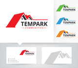 Tempark Homes vector logo with alternative colors and business card template