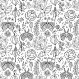 Seamless floral pattern. Vector background