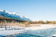 Winter landscape in Canmore, Alberta, Canada