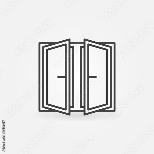 Wide open window icon - 116586057