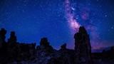 Milky Way rising over Tufa Towers Mono Lake California Time-lapse