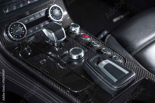 Control buttons of sports car Poster