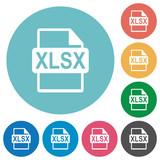 Flat XLSX file format icons