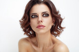 Fresh portrait of beautiful woman with beauty hairstyle