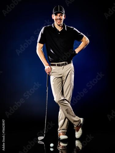 Fototapeta man golfer golfing isolated
