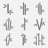 Bamboo icons vector set