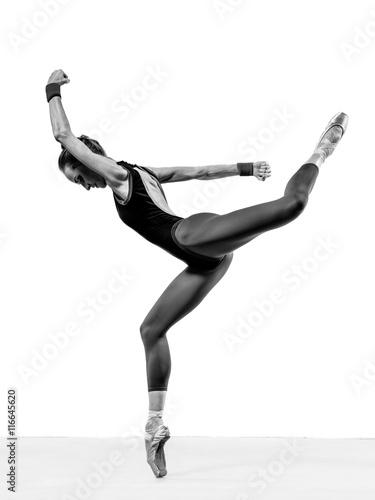 balerina posing in studio Plakát