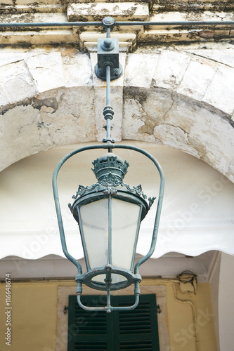 Old traditional lantern, on Corfu Greece