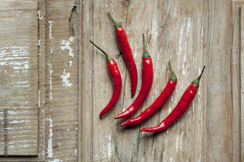 Fotobehang Hot chili peppers Piments rouges