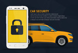 Car security vector illustration, mobile remote lock control for car concept - 116694402