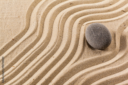 Poster zen garden meditation stone background