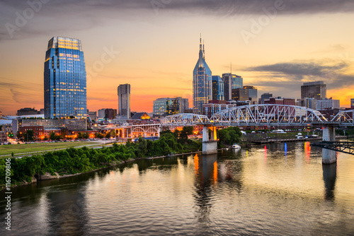 Nashville, Tennessee, USA Skyline on the Cumberland River.