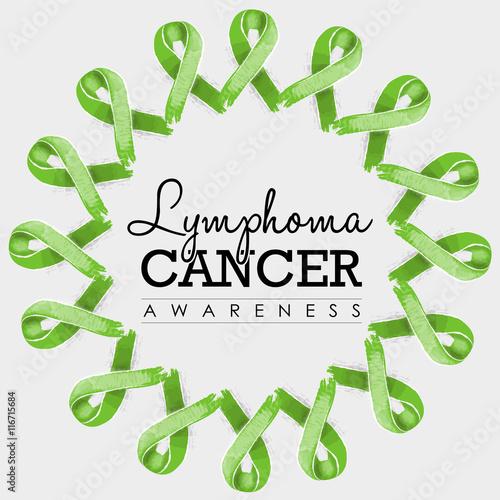 Lymphoma Cancer Awareness Ribbon Design With Text Buy Photos Ap
