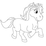Fairytale Pony Coloring Book Page - 116720813