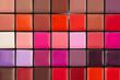 colorful lipstick palette