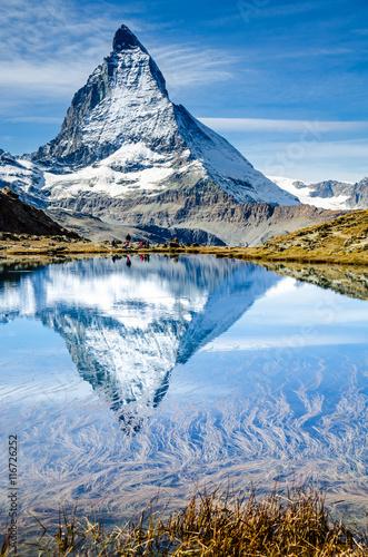 Fotobehang Europese Plekken Matterhorn, Zermatt, Wallis, Schweiz